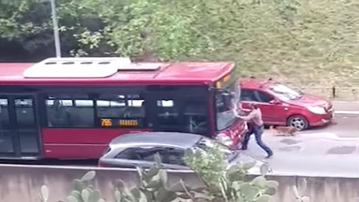 autista autobus investe pedone