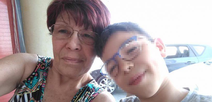 portato via alla nonna