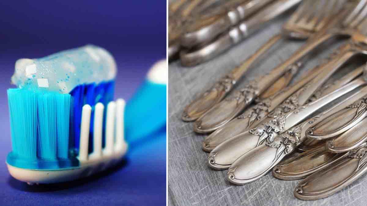 Posate Argento Come Pulirle ecco cosa succede se spalmiamo del dentifricio su posate
