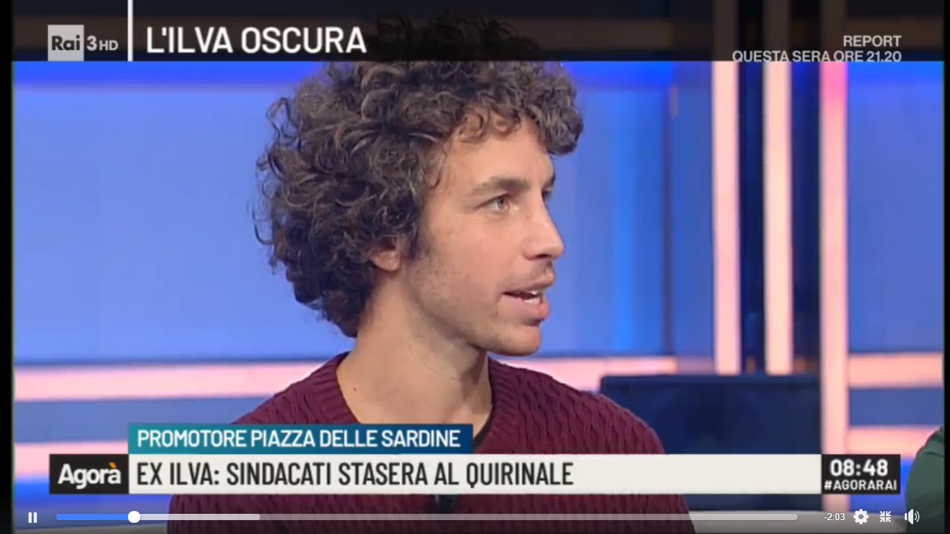 """Risultati immagini per Mattia Sartori e il movimento delle """"sardine"""""""
