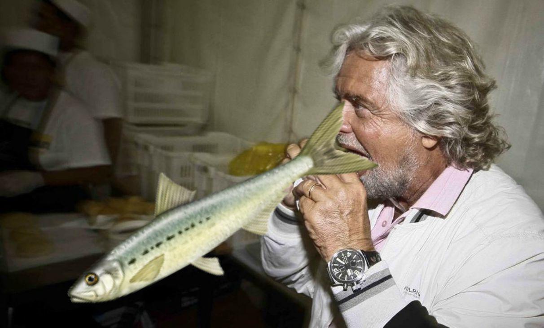 Beppe Grillo e le sardine