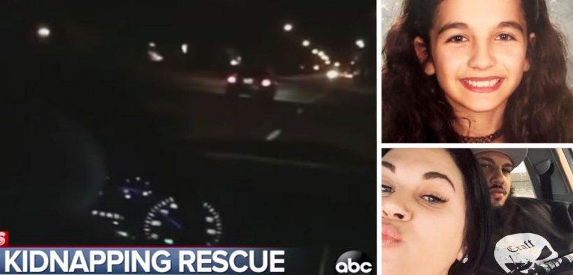 coppia insegue il rapitore