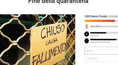 petizione per fermare la quarantena