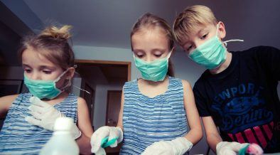 mascherine e bambini