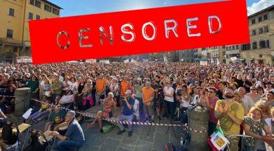 manifestazione a firenze 3v piazza