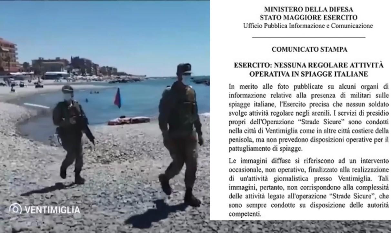 esercito in spiaggia