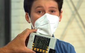 mascherina monitor misuratore co2