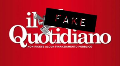 il fatto quotidiano fake