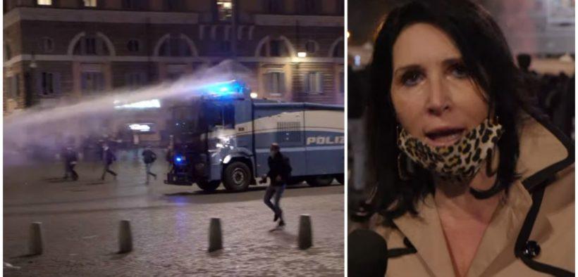 polizia manifestazione roma