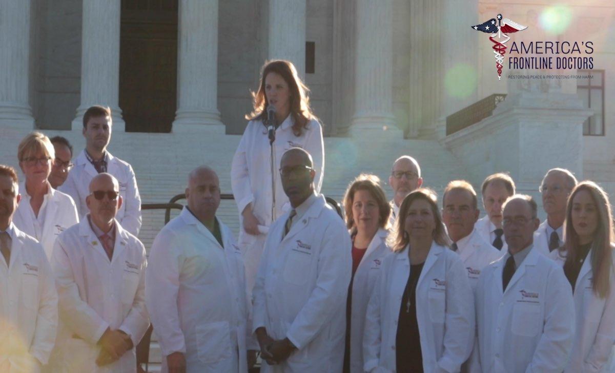 medici americani America's Frontline Doctors idrossiclorochina mascherine