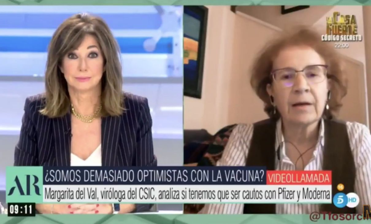 Vaccino virologa Margarita del Val